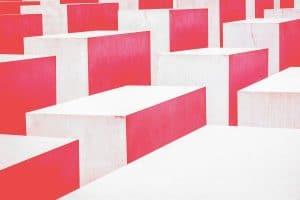 Concrete block steps.