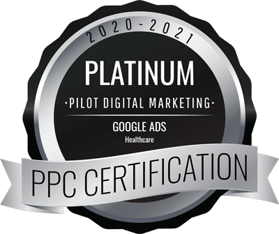 Platinum PPC Certification for Google Ads Healthcare.